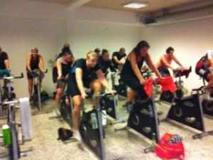 Spinning-Marathon 29-11-2014. 3 timer med fuld fart på alle..